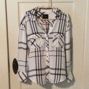 Rails Free People Draped in Plaid Button Down